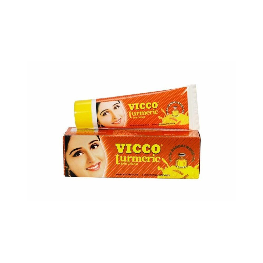 Vicco Turmeric Cream with Sandalwood Oil