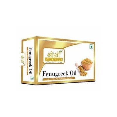 Sri Sri FENUGREEK OIL IN VEG CAPSULES, 30 Caps