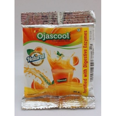 Sri Sri OJASCOOL TULASI ORANGE DRINK SACHET, 25 gm