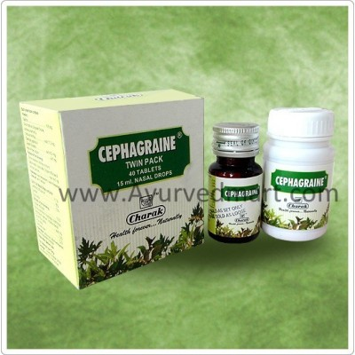 Charak Cephagraine Tablet and Nasal Drops