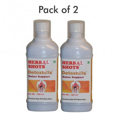 Detoxhills Herbal Shots 500ml (Pack of 2)