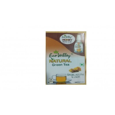 Eco ValleyOrganic Green Tea, Ginger, Mulethi & Lemon (Honey bottle 30gm)
