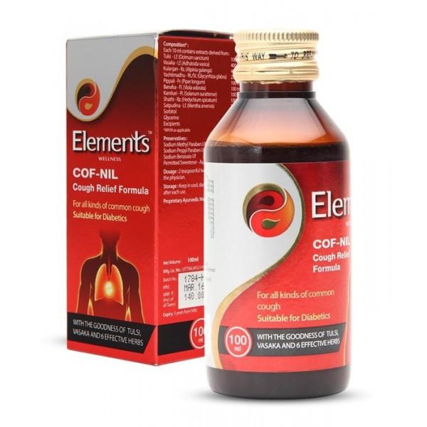 Elements Cof Nil Cough Relief Formula