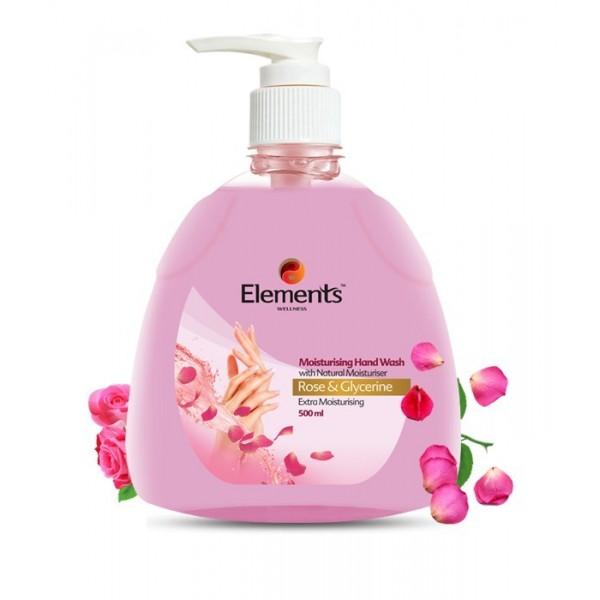 ELEMENTS MOISTURISING HAND WASH ROSE GLYCERIN