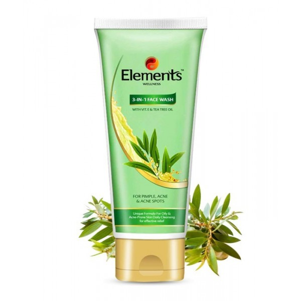 Elements 3 in 1 Face Wash Anti Acne
