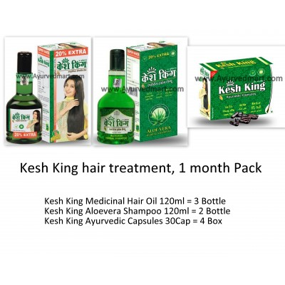 Kesh King Hair Treatment , 1 Month Pack