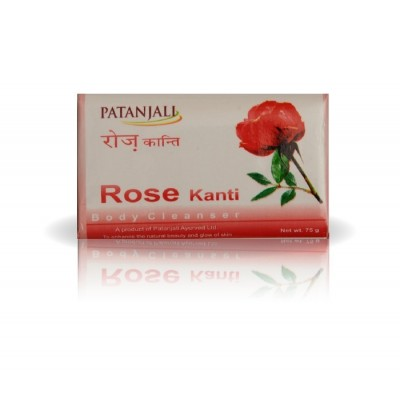 Patanjali ROSE BODY CLEANER SOAP, 75 gm
