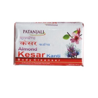 Patanjali ALMOND KESAR BODY CLEANER SOAP, 75 gm