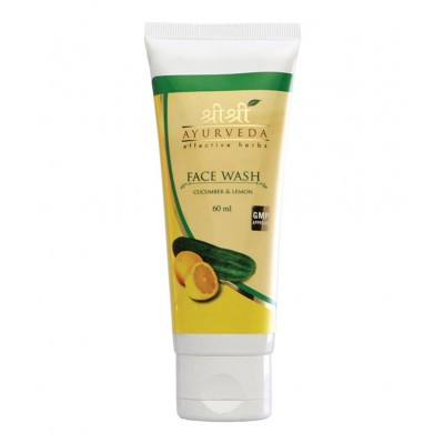 Sri Sri CUCUMBER LEMON FACE WASH, 60 ml