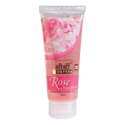 Sri Sri ROSE FACE WASH, 60 ml