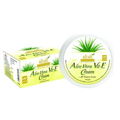 Sri Sri ALOEVERA & VIT-E-CREAM, 100 gm