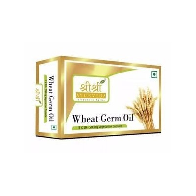 Sri Sri WHEAT GERM OIL IN VEG CAPSULES, 30 Caps