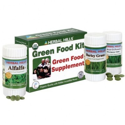 Green Food Supplement Kit (Wheatgrass, Alfalfa, Barley Grass)