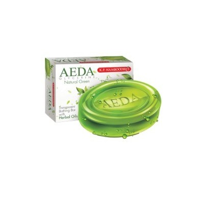 AEDA Glycerine Bathing Bar Natural Green, 75gm