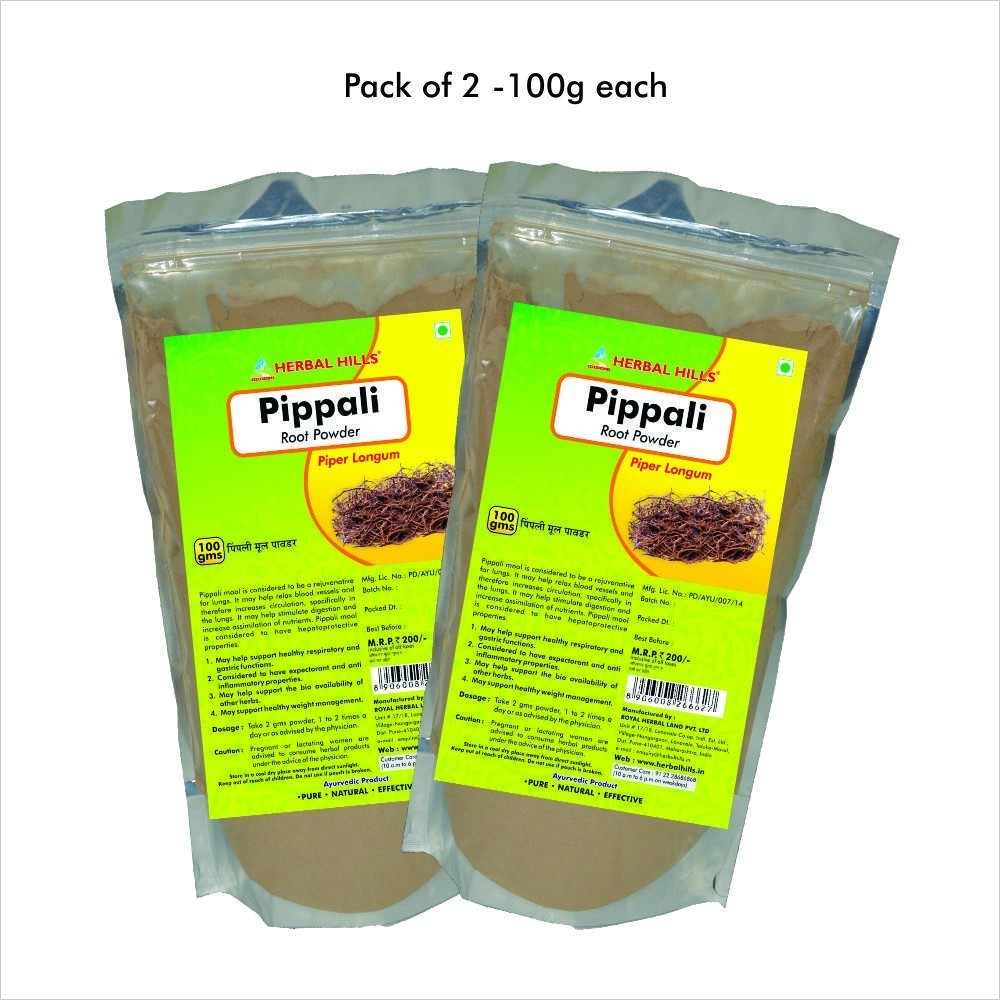 Pippali Root Powder, 100 gms powder