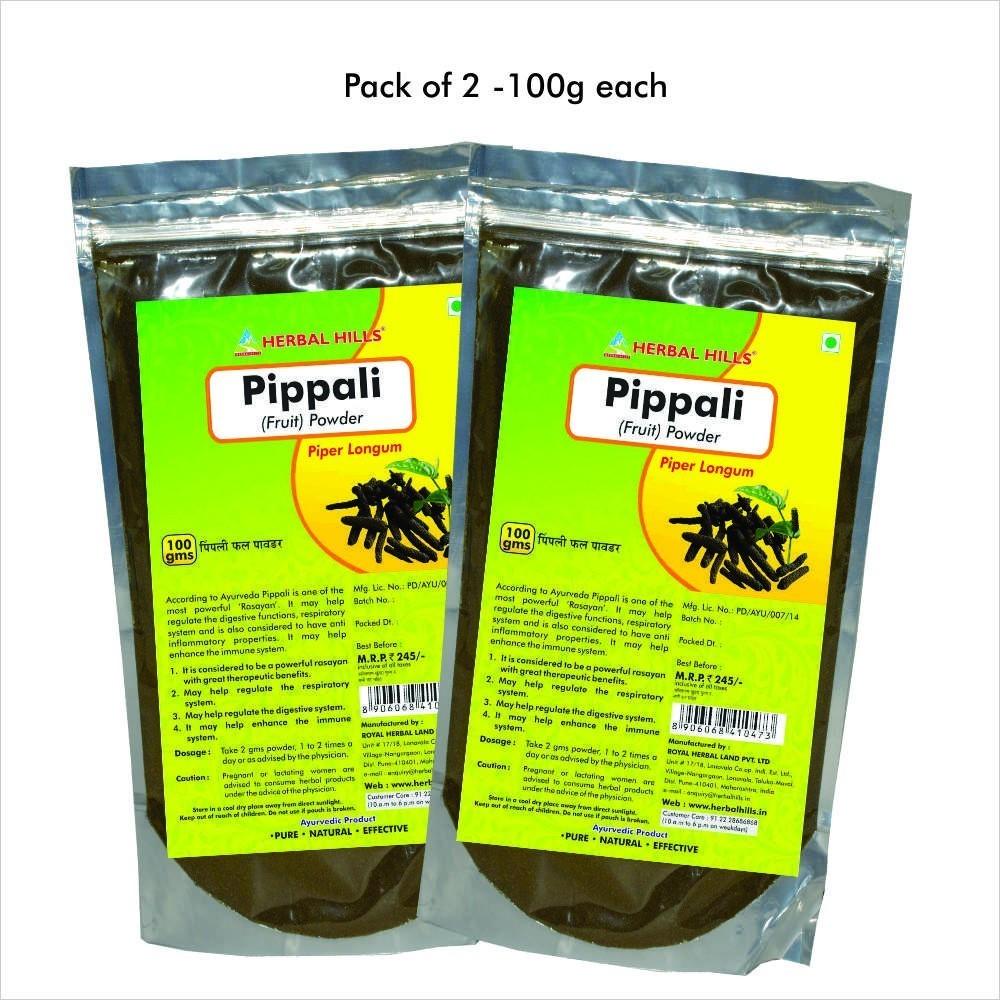 Pippali fruit powder, 100 gms powder
