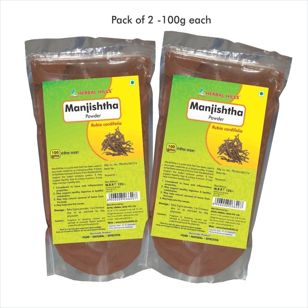 Manjishtha Powder, 100 gms powder