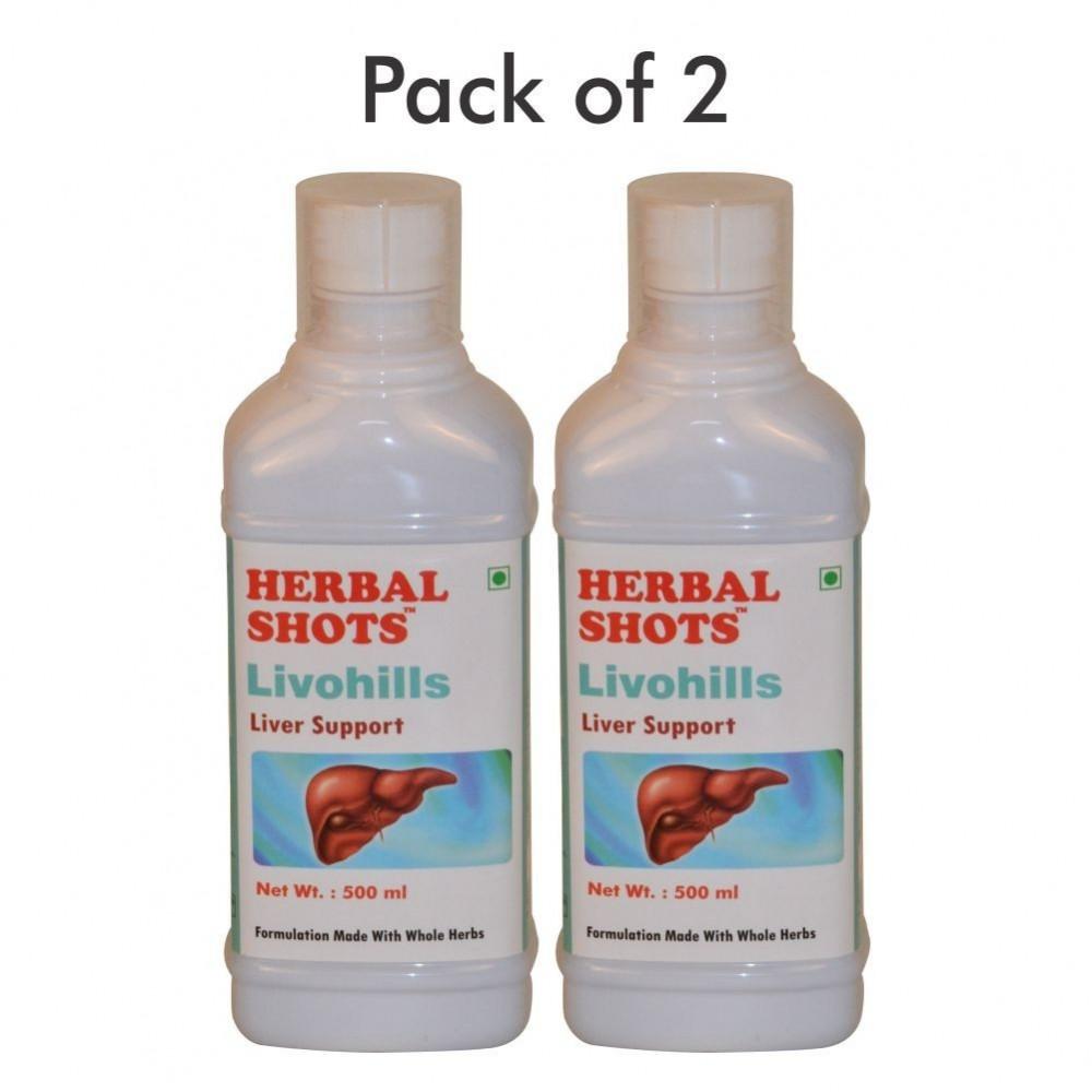 Livohills Herbal Shots 500ml (Pack of 2)