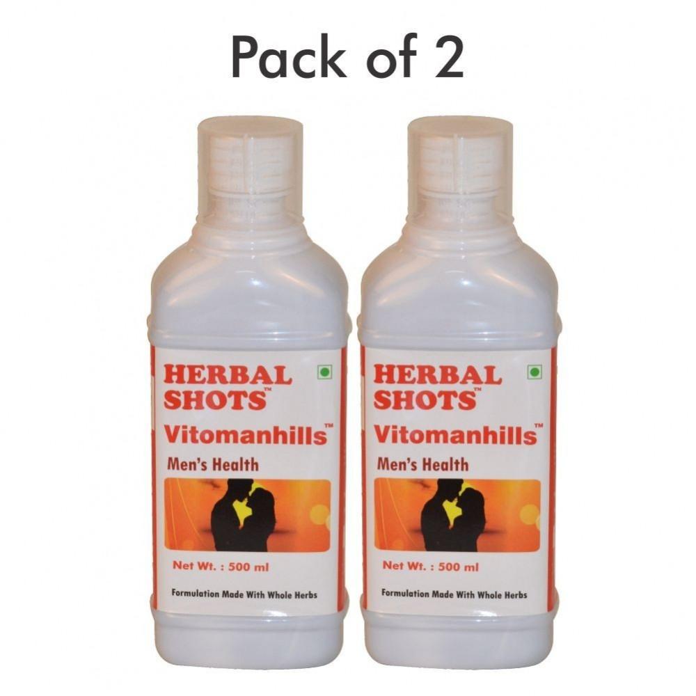 Vitomanhills Herbal Shots 500ml (Pack of 2)