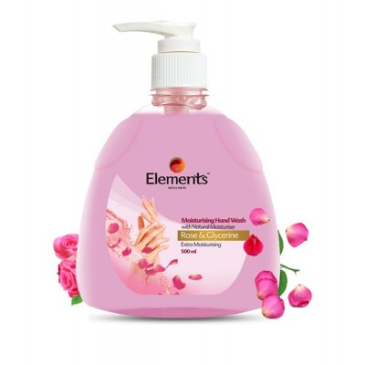 ELEMENTS MOISTURISING HAND WASH ROSE GLYCERIN