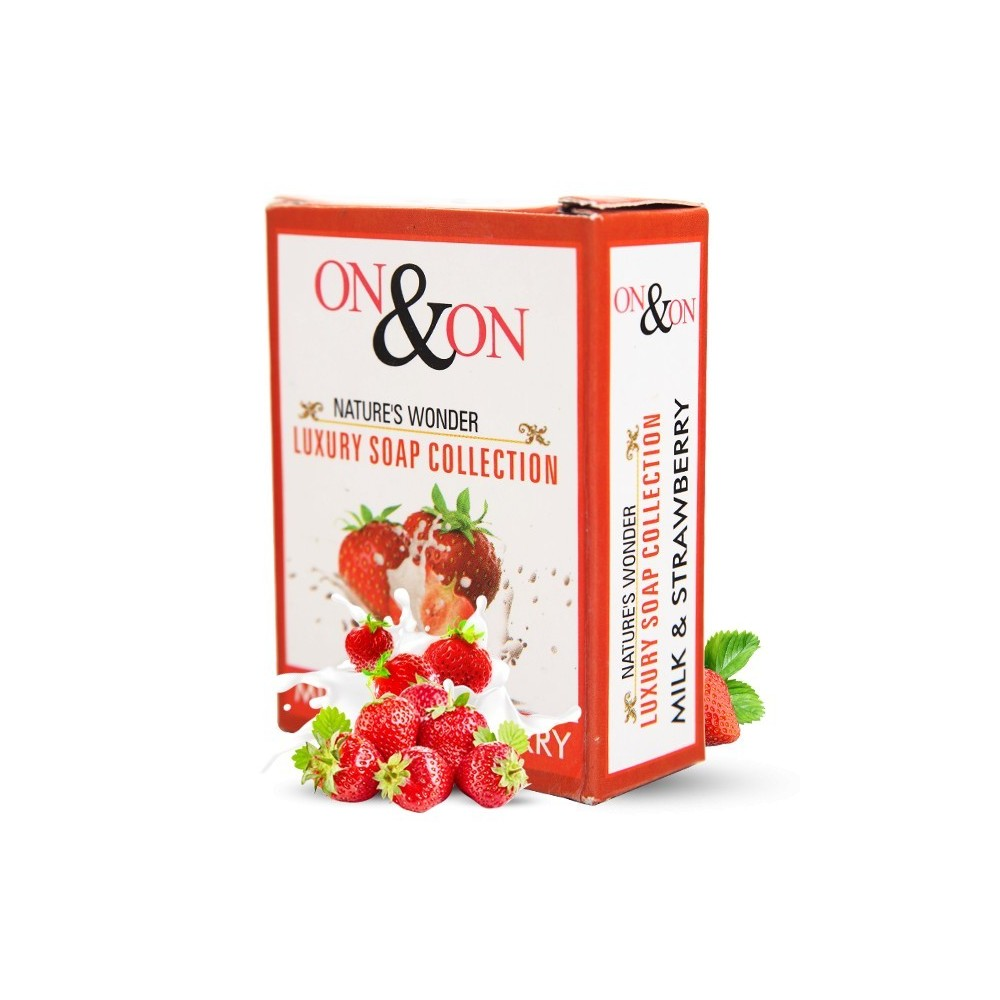 On & On Natures Luxury Milk and Strawberry Soap