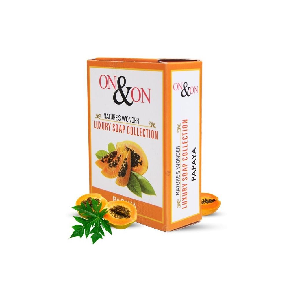On & On Natures Luxury Papaya Soap