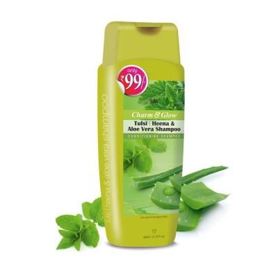 Charm & Glow Tulsi Heena & Aloe Vera Shampoo