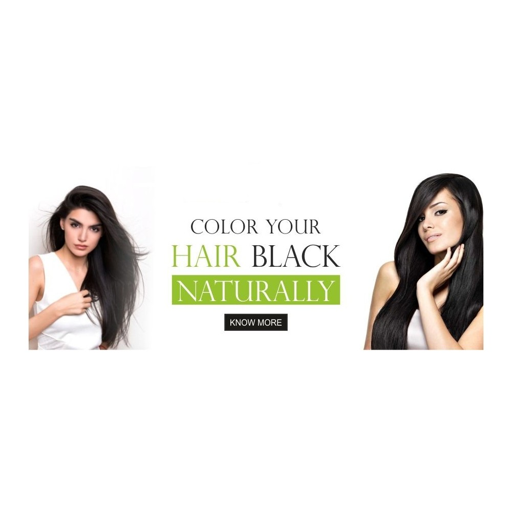 Natural Dye for Black Hair (Henna Leaves powder, Indigo leaves powder combo pack)