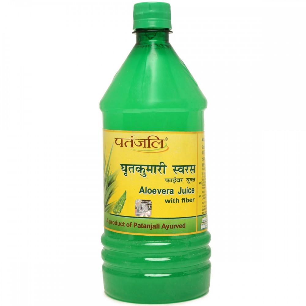 Patanjali Aloevera Juice fiber, 1 litre