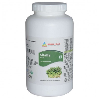 Herbal Hills Alfalfa, 500 Tablets