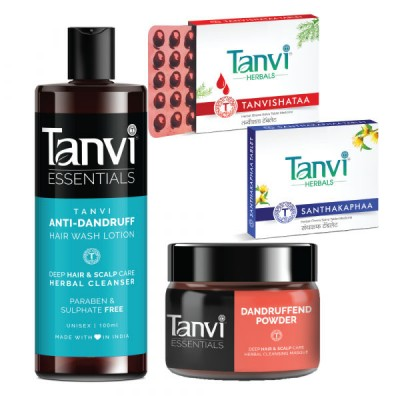Tanvi Anti Dandruff Hair Kit, Herbal Products for Dandruff & Lice