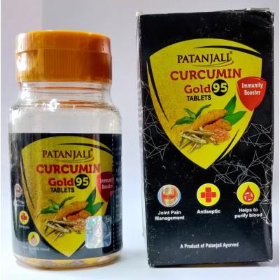 Patanjali Curcumin Gold 95 Tablets, 60 Tab