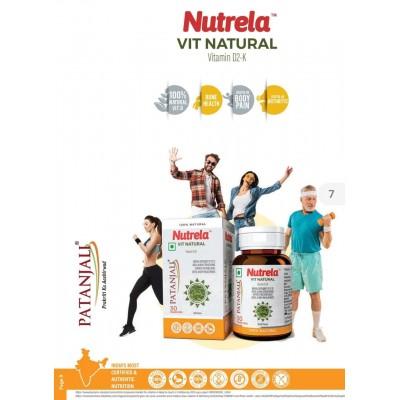 Patanjali Nutrela Vit Natural Vitamin D-2K, 30 Chewable tablets