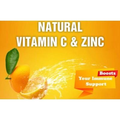 Natural Vitamin C 1000 MG & Zinc C-Shot, 20 Effervescent Tablets
