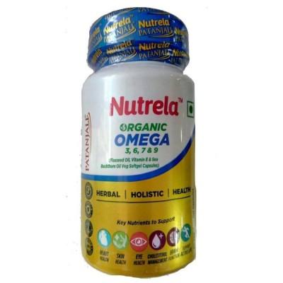 Patanjali Nutrela Organic Omega 3, 6, 7 & 9, 60 Veg Soft Gel Capsules