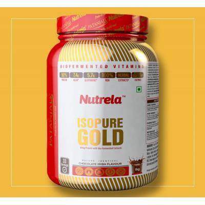 Patanjali Nutrela Isopure Gold Chocolate Irish Flavour, 1 Kg Jar